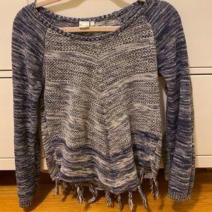 Mudd Fringe bottom sweater
